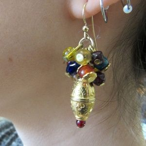 Vintage Gold Plated Bohemian Earrings